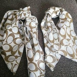 Set of 2 Coach purse scarves
